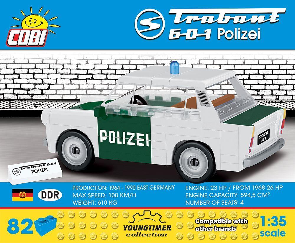 COBI ブロック ☆ 1/35サイズ 自動車 ☆ トラバント 601 東ドイツ警察 パトロールカー Trabant 601 Polizei ☆ 新品/未開封 ☆ EU製_画像2