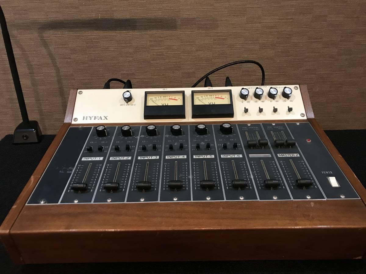 即決 Hyfax 小型ミキシングコンソール PMA-602+8モジュール タムラ TpB-1