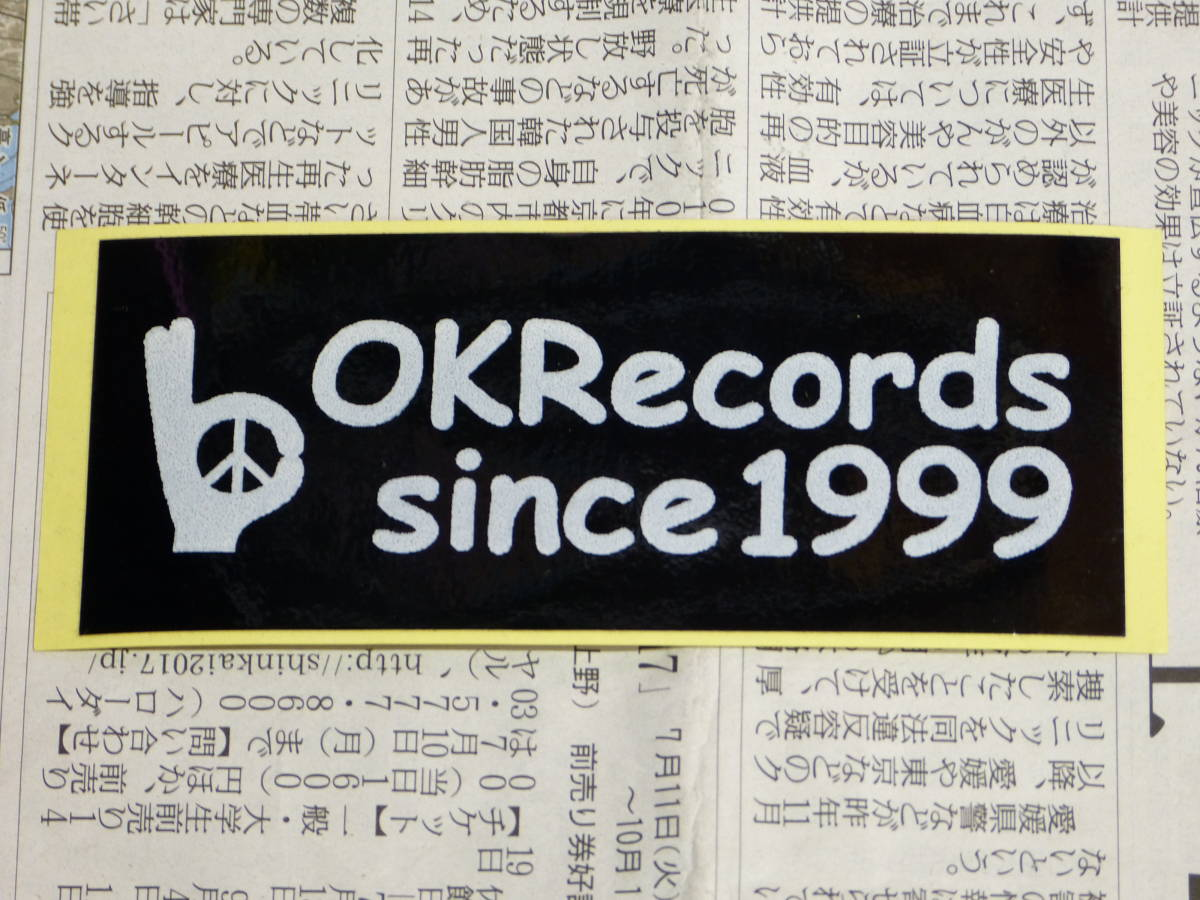 OK RECORDS フライヤー ステッカー GISM GAUZE LIP CREAM G-ZET KURO SWANKYS CONFUSE スターリン ソドム 奇形児 サリドマイド 悲観 ADK CD_画像3