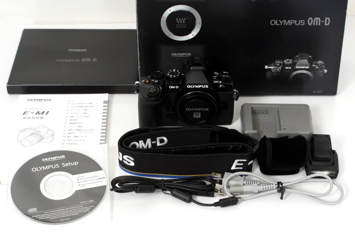 [普通中古・一週間保証] OLYMPUS OM-D E-M1 Black Body オリンパス EM1 ブラック マイクロフォーサーズミラーレス一眼ボディー_画像2