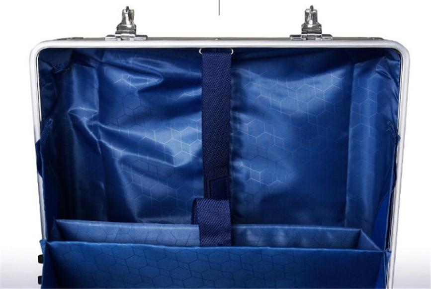 高品質☆17インチ☆TSAロック搭載スーツケース・キャリーケース☆機内持ち込可☆アルミマグネシウム合金製・軽量・静音・シルバー_画像4