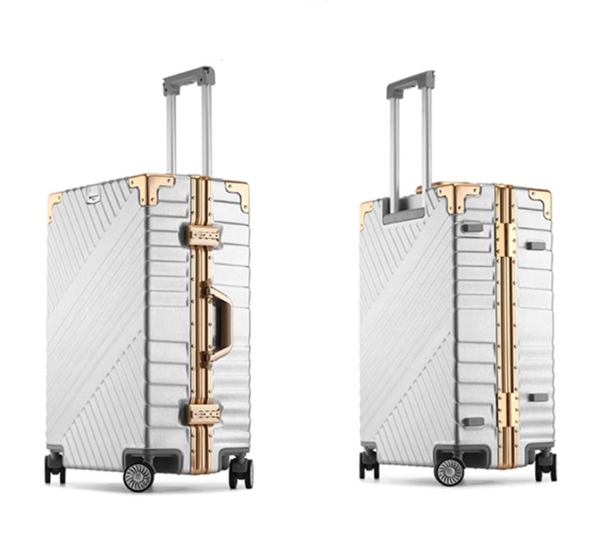 ★EU基準★アルミマグネシウム合金製・軽量/静音・TSAロック搭載スーツケース・キャリーケース20インチ 大容量