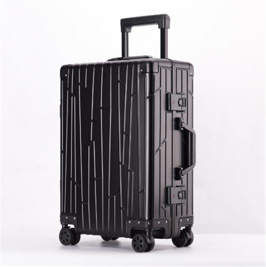 高品質 オールアルミマグネシウム合金 スーツケース トラベルバッグ 頑丈 フレーム TSAロック搭載キャリーケース 24インチ 4