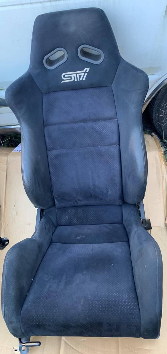 希少!STI セミバケットシート左右 GDBにて使用 レール付きです!状態もまぁまぁ良いと思います!ヴィヴィオ? レガシィ?_画像3