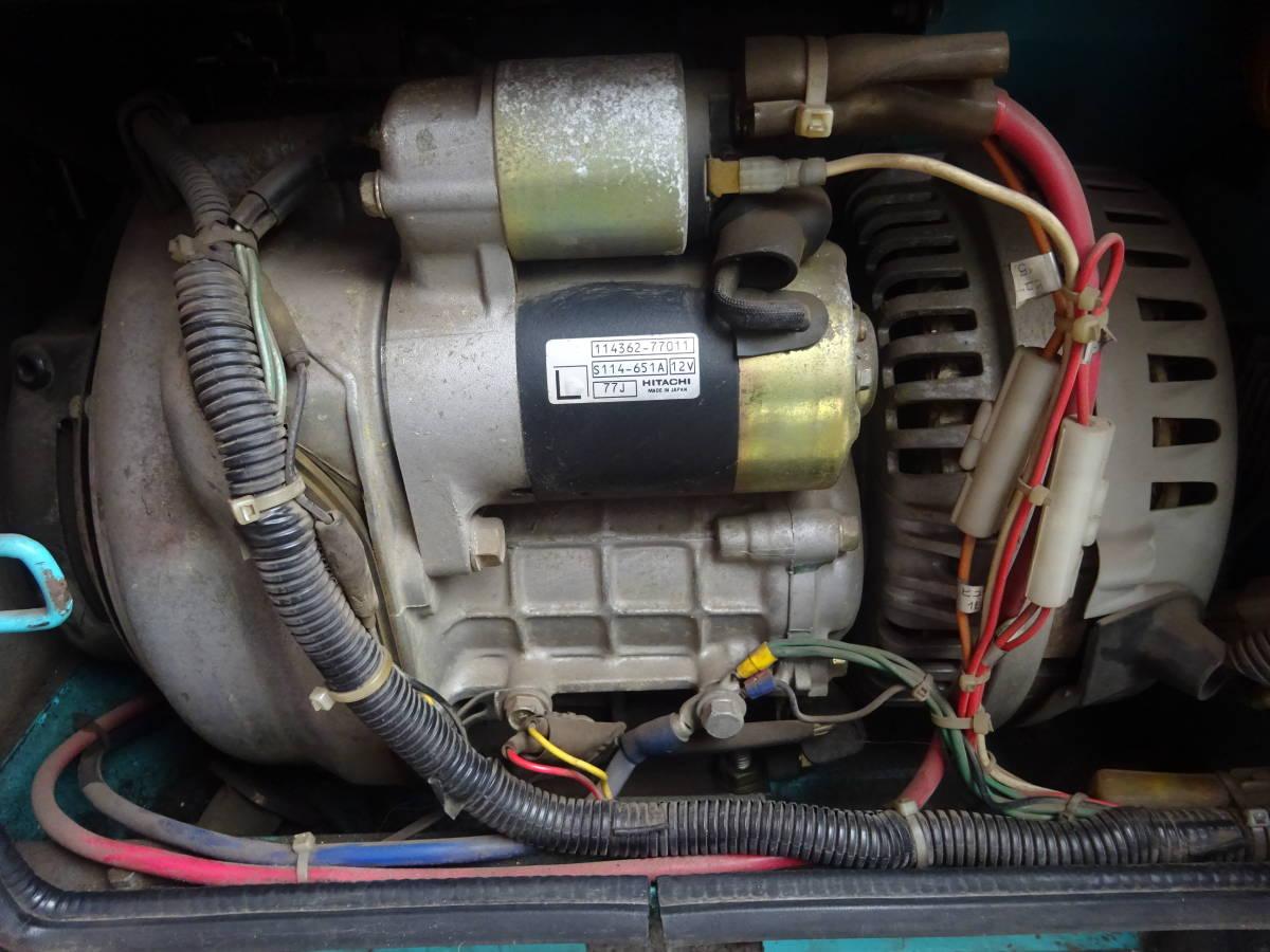 【中古動作品】デンヨー DENYO 防音型 エンジン溶接発電機 エンジンウェルダー GAW-180SS スーパーデンヨーハンデ_画像10