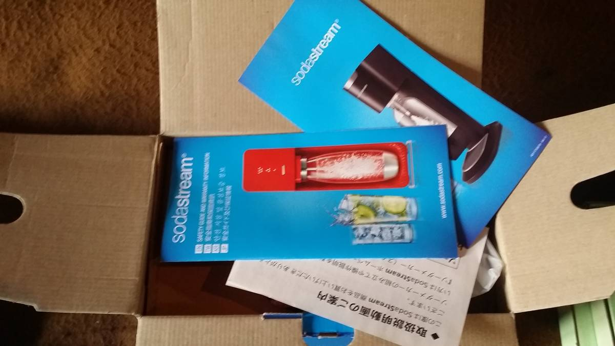未使用【Soda Stream SOURCE ソーダストリーム】GENSIS DELUXE(赤 炭酸水メーカー)_画像2