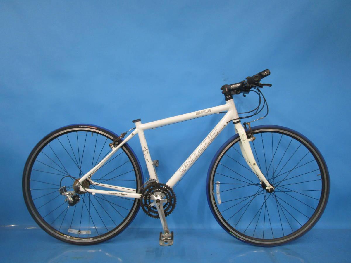 ☆大阪西淀☆ 部品取り SPECIALIZED SIRRUS アルミ クロスバイク 3×8 700C スペシャライズド シラス シマノ SORA 中古 自転車 M52