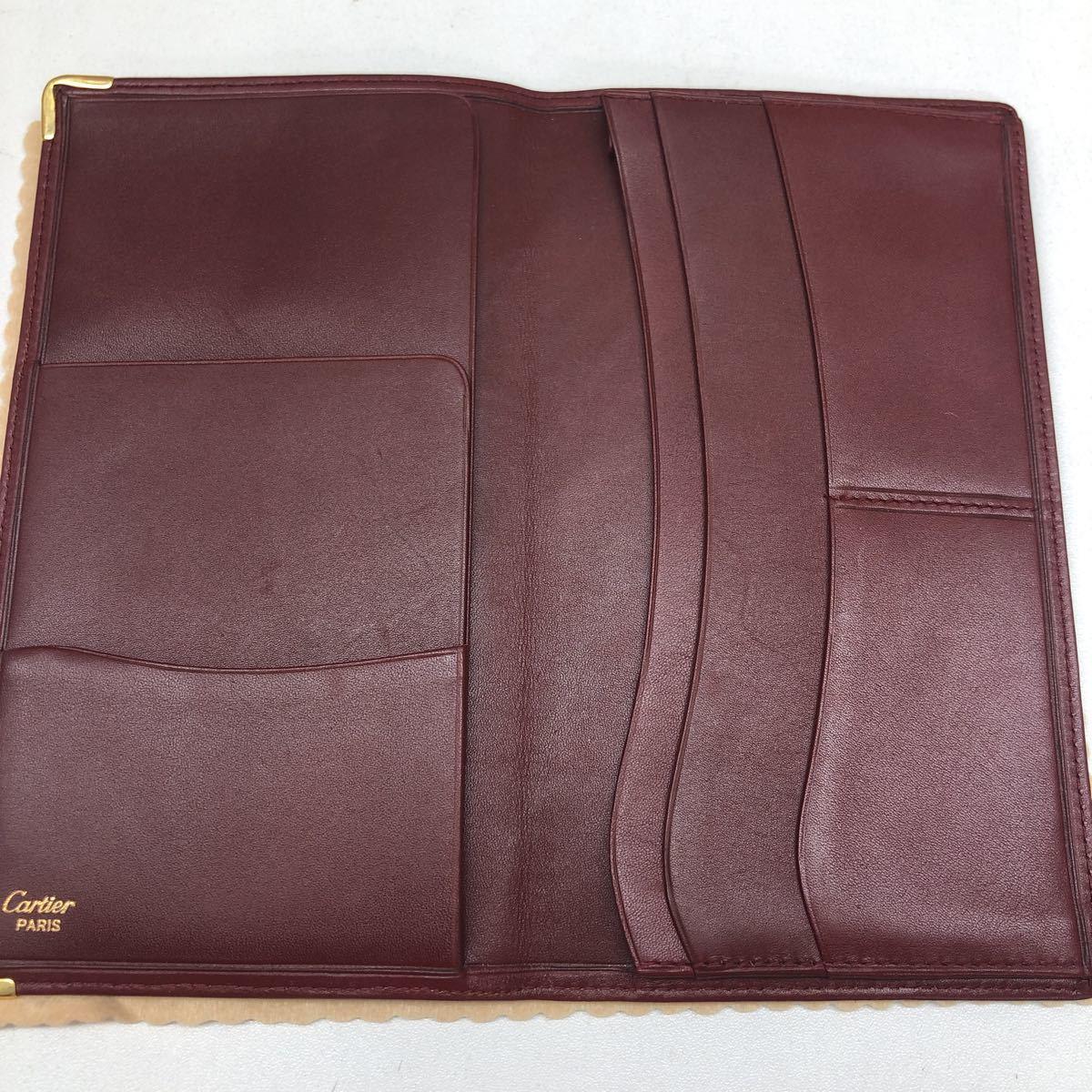 【未使用保管品】must de Cartier マストライン 長財布 札入れ 小銭入れ 計2点_画像3