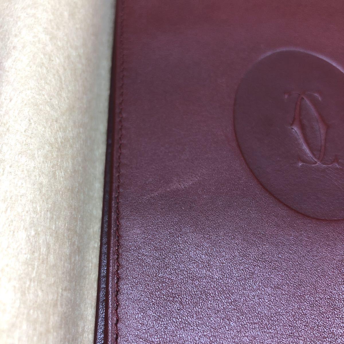 【未使用保管品】must de Cartier マストライン 長財布 札入れ 小銭入れ 計2点_画像10