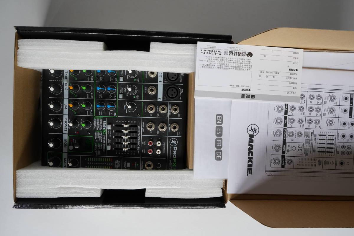 【1円スタート】MACKIE ProFX4v2 4チャンネル エフェクター内臓ミキサー 新品同様品_画像4