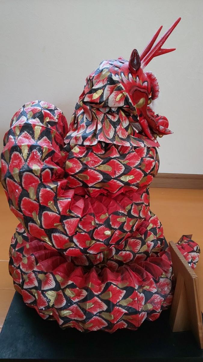 石見神楽 大蛇 蛇胴 八岐大蛇 置物 ミニチュア 模型 伝統工芸 和紙_画像7