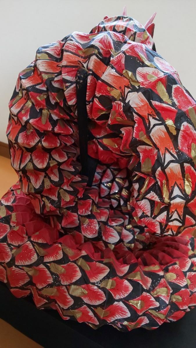 石見神楽 大蛇 蛇胴 八岐大蛇 置物 ミニチュア 模型 伝統工芸 和紙_画像5