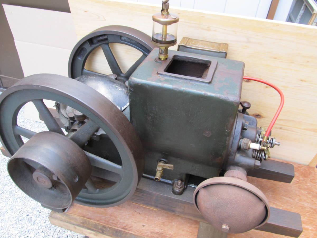 旧型農業用発動機 タコマ 箱マグネット―1本ロット発動機 2.5PS 750RPM 実動エンジン 現状中古品 引き取り限定 _画像2