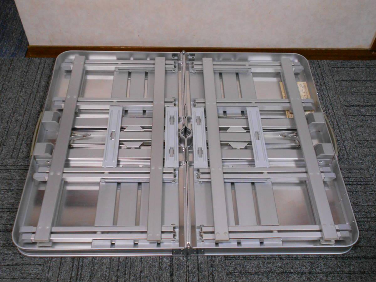 ■廃盤 コールマン アルミピクニックテーブル 4人用 収納ケース付 アルミ製 Model 170-5564 Coleman_画像6
