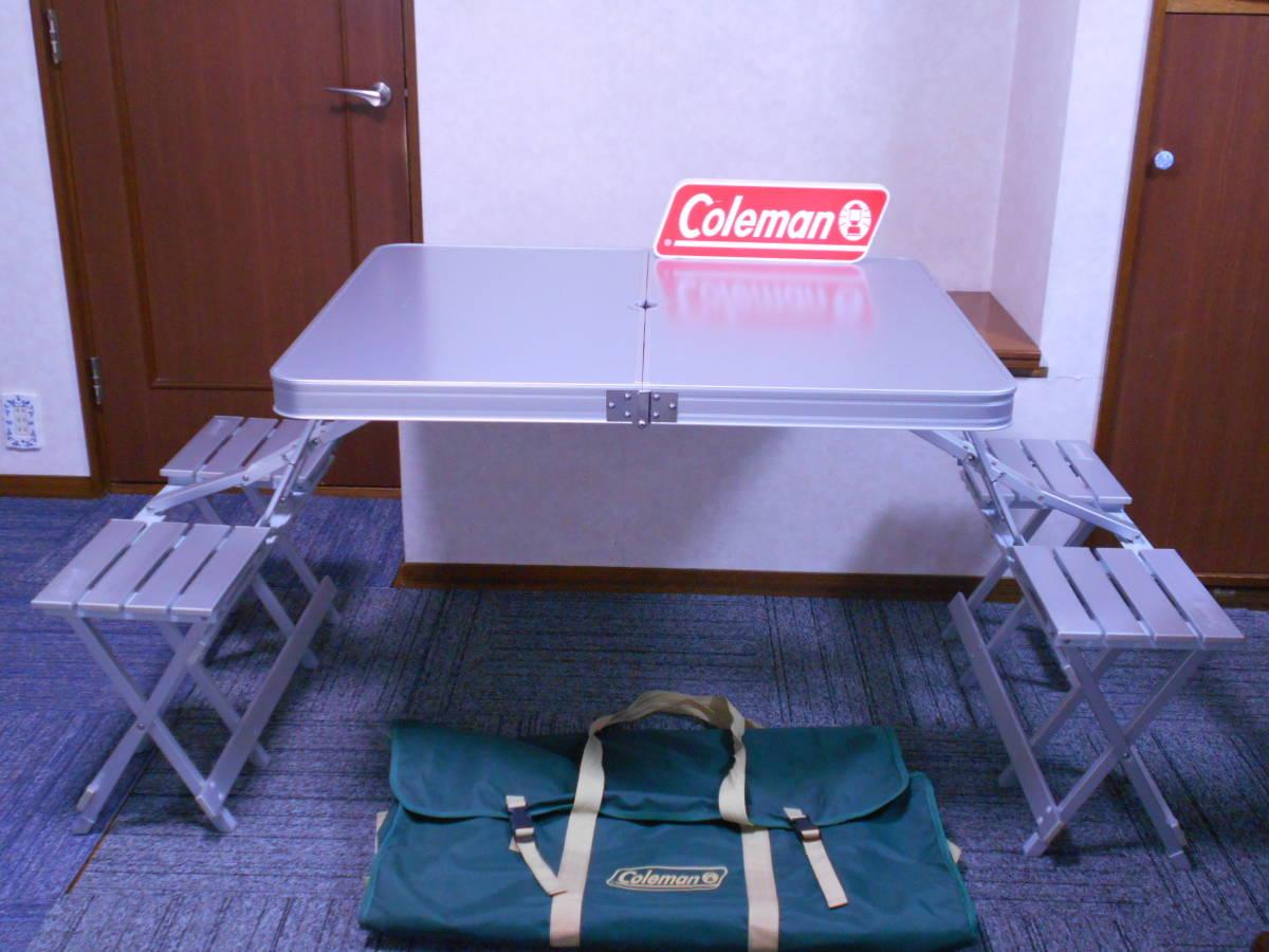■廃盤 コールマン アルミピクニックテーブル 4人用 収納ケース付 アルミ製 Model 170-5564 Coleman