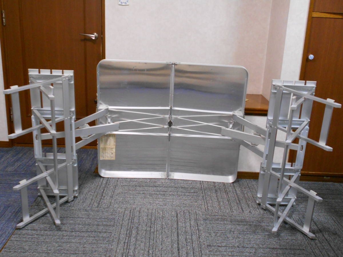 ■廃盤 コールマン アルミピクニックテーブル 4人用 収納ケース付 アルミ製 Model 170-5564 Coleman_画像5