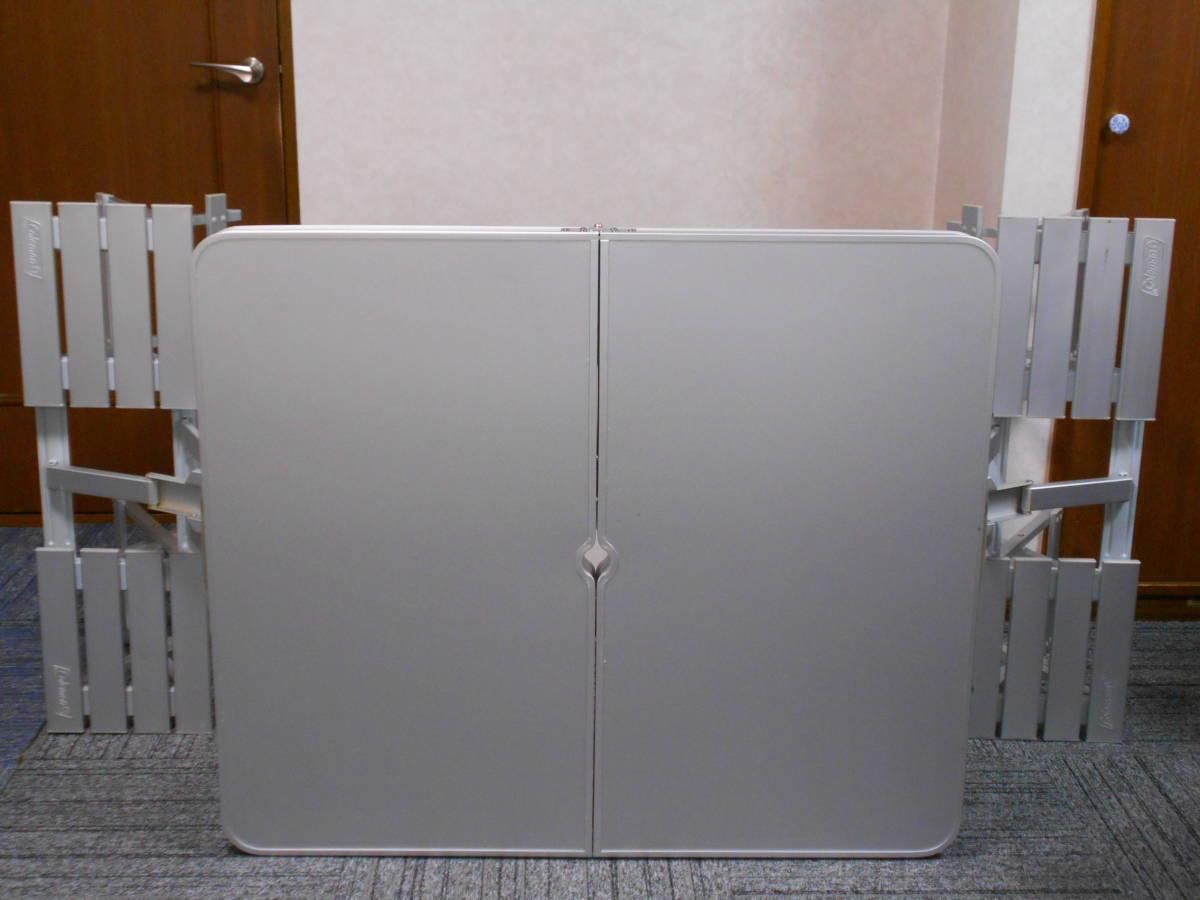 ■廃盤 コールマン アルミピクニックテーブル 4人用 収納ケース付 アルミ製 Model 170-5564 Coleman_画像4
