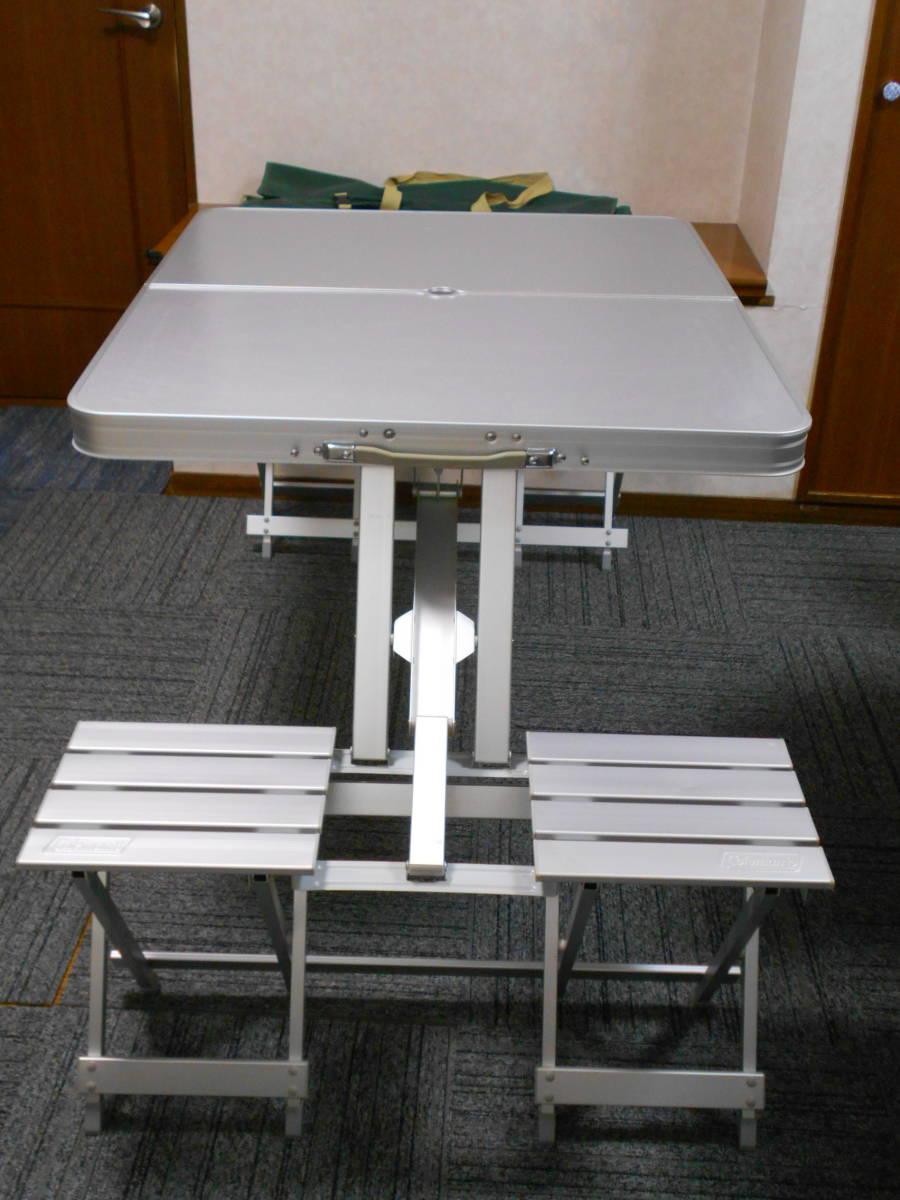■廃盤 コールマン アルミピクニックテーブル 4人用 収納ケース付 アルミ製 Model 170-5564 Coleman_画像3