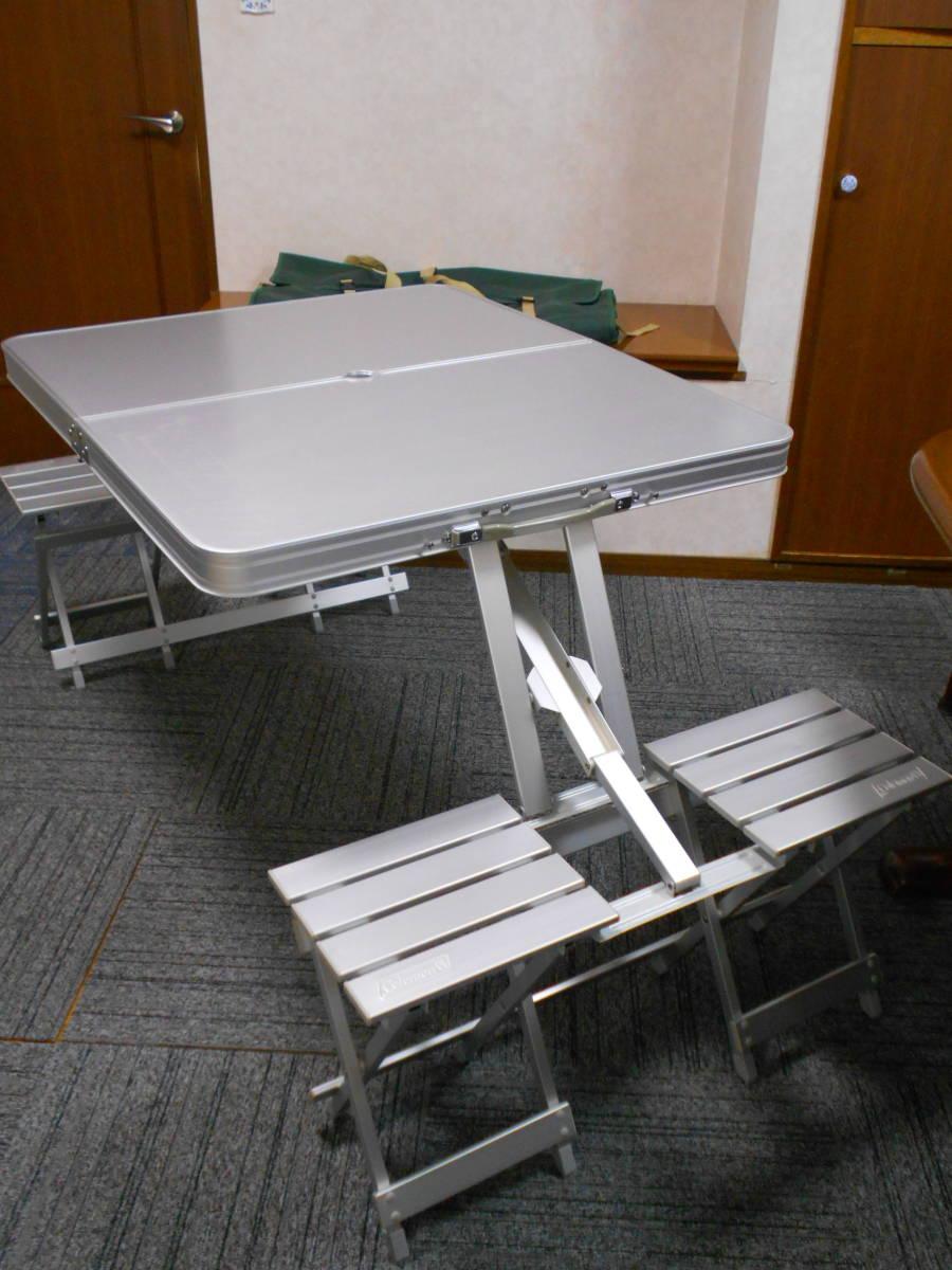 ■廃盤 コールマン アルミピクニックテーブル 4人用 収納ケース付 アルミ製 Model 170-5564 Coleman_画像2