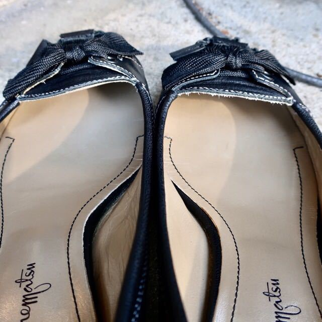 銀座カネマツ 24cm パンプス 靴 黒 通勤 フェミニン エレガント GINZA Kanematsu_画像5