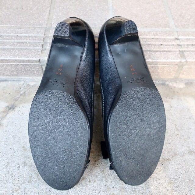 銀座カネマツ 24cm パンプス 靴 黒 通勤 フェミニン エレガント GINZA Kanematsu_画像7