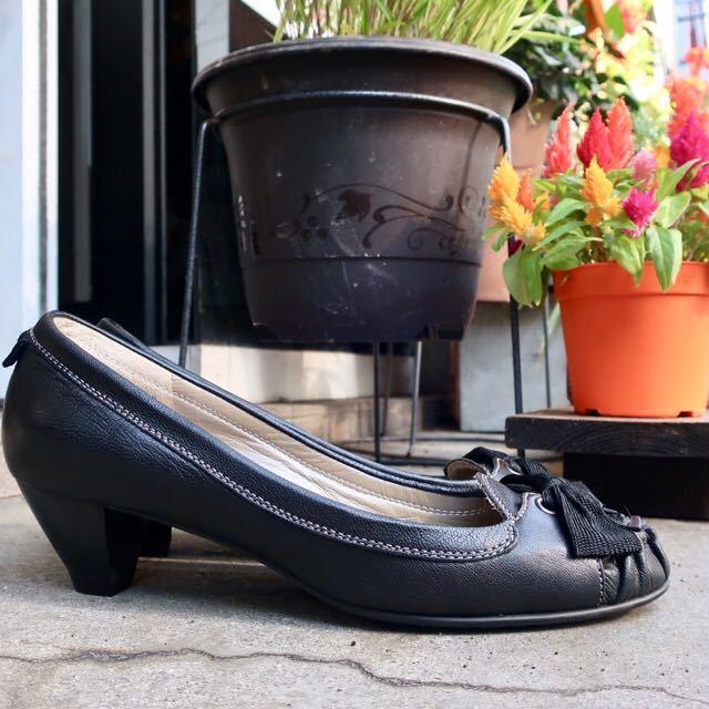 銀座カネマツ 24cm パンプス 靴 黒 通勤 フェミニン エレガント GINZA Kanematsu_画像3