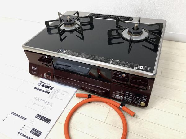 リンナイ ガスコンロ RTS65AWK1R-AR ラクシエ LPガス用 パールクリスタルトップ