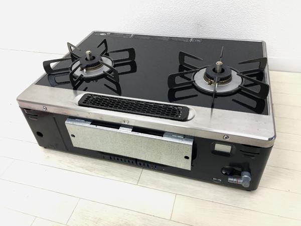 リンナイ ガスコンロ RTS65AWK1R-AR ラクシエ LPガス用 パールクリスタルトップ_画像6