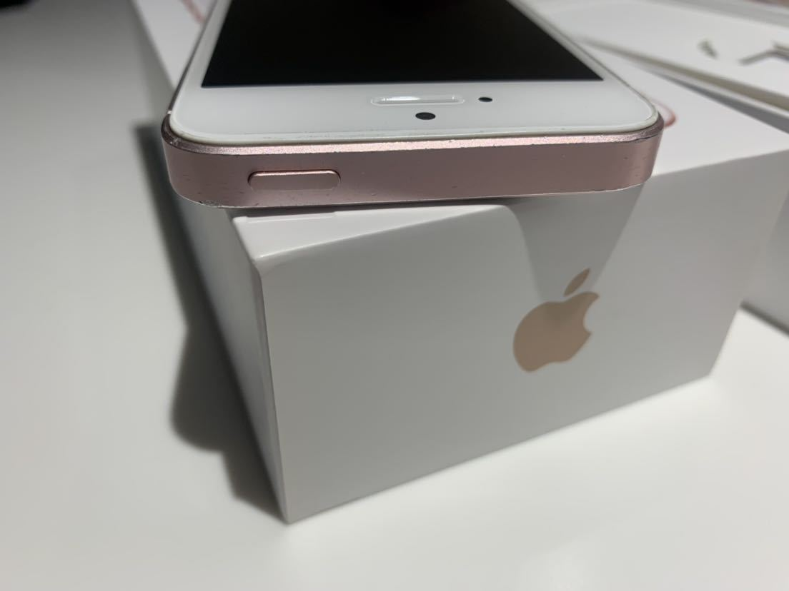 1円~ 送料無料 ジャンクだけど問題なく使用可 ジャンク理由は画面浮き 中古 SlMロック解除済み au Apple iPhone SE 64GB ローズゴールド _画像5