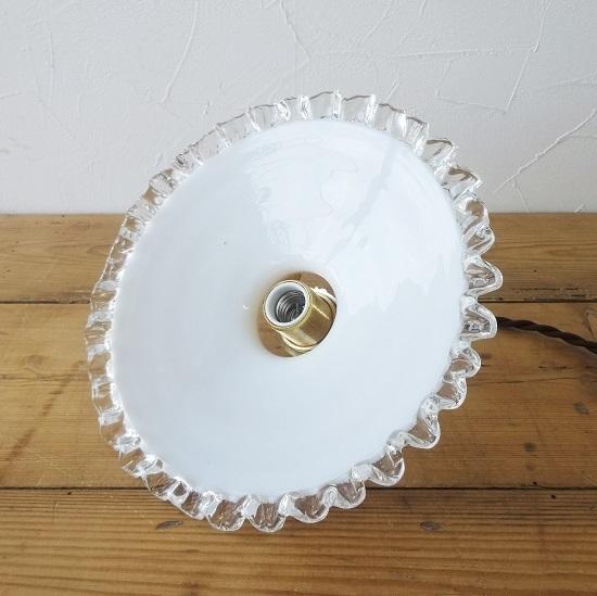 フランス アンティーク ミルクガラスシェード ちょっと小ぶりなサイズ 。。。_画像5