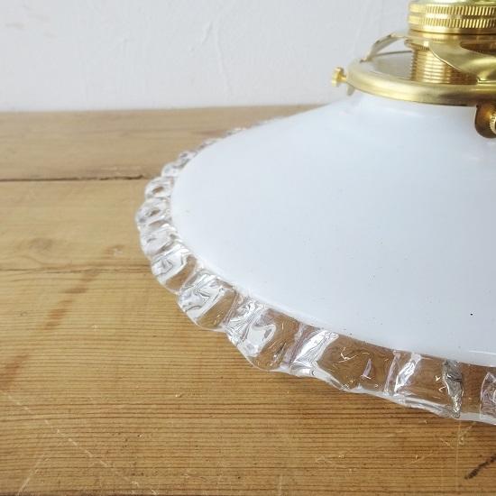 フランス アンティーク ミルクガラスシェード ちょっと小ぶりなサイズ 。。。_画像3