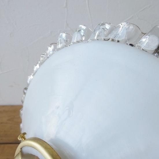 フランス アンティーク ミルクガラスシェード ちょっと小ぶりなサイズ 。。。_画像4