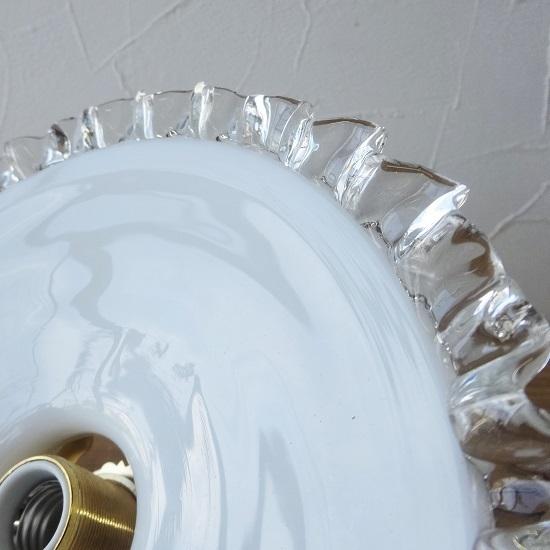 フランス アンティーク ミルクガラスシェード ちょっと小ぶりなサイズ 。。。_画像6