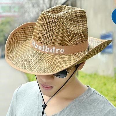【1円!最落無し】麦わら帽子メンズサンバイザーソフトテンガロンハット帽春夏ウエスタンハット 3色選べます UE105_画像4