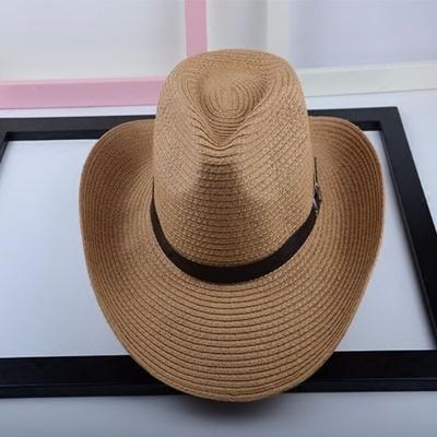 【1円スタート!最落無し】麦わら帽子メンズサンバイザーソフトテンガロンハット帽春夏ウエスタンハット4色選べます UE048_画像2