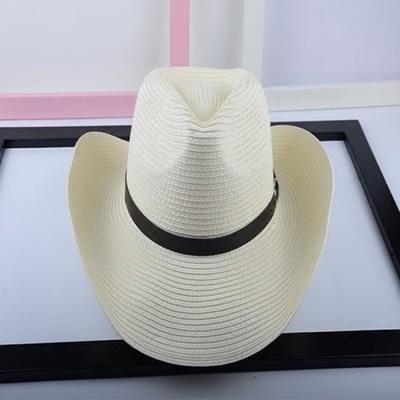 【1円スタート!最落無し】麦わら帽子メンズサンバイザーソフトテンガロンハット帽春夏ウエスタンハット4色選べます UE048_画像3