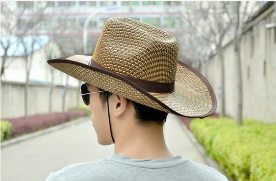 【1円!最落無し】麦わら帽子メンズサンバイザーソフトテンガロンハット帽春夏ウエスタンハット 3色選べます UE105_画像3