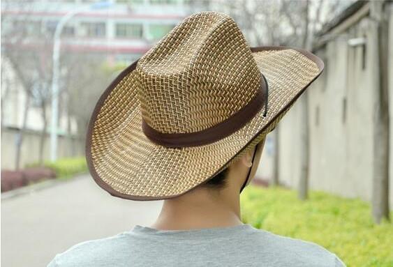 【1円!最落無し】麦わら帽子メンズサンバイザーソフトテンガロンハット帽春夏ウエスタンハット 3色選べます UE105_画像5