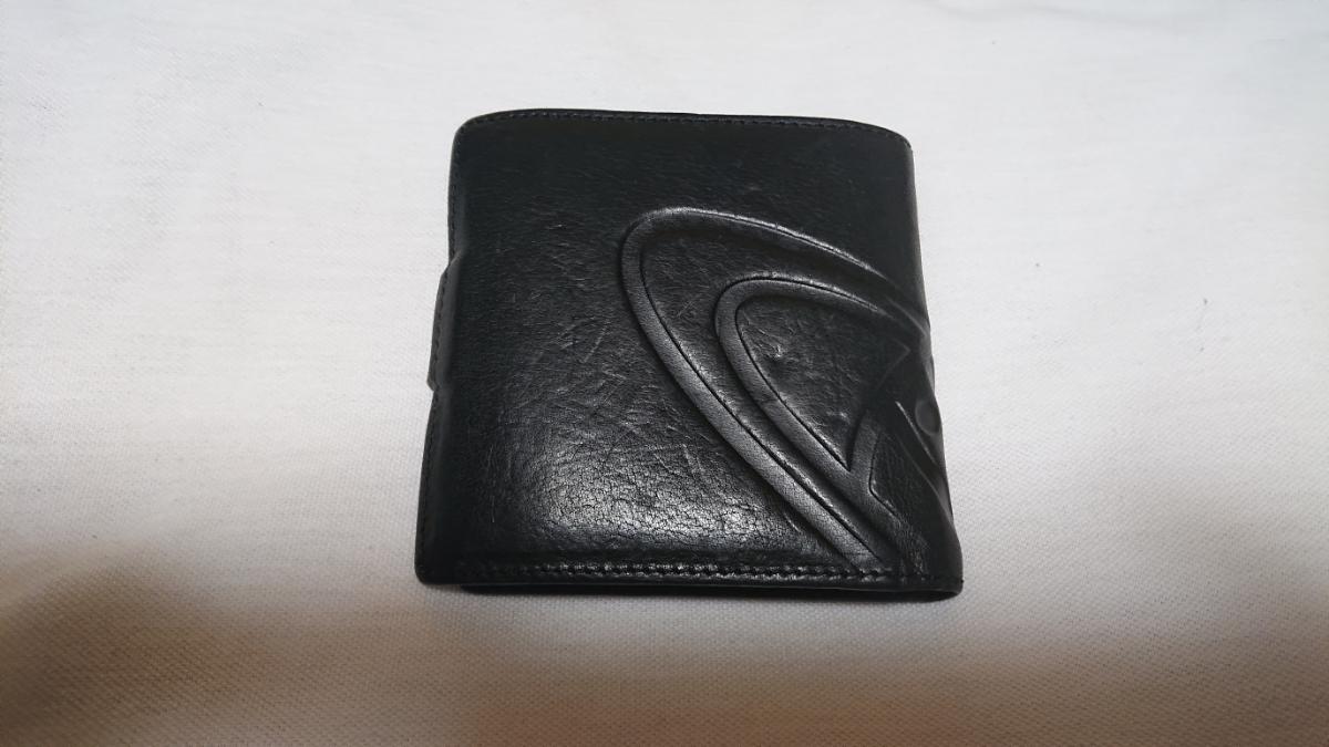 ヴィヴィアン・ウエストウッド 2つ折り財布 GIANT ORB 2814 ブラック_画像2