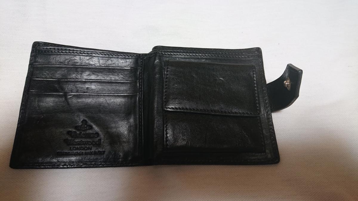 ヴィヴィアン・ウエストウッド 2つ折り財布 GIANT ORB 2814 ブラック_画像3