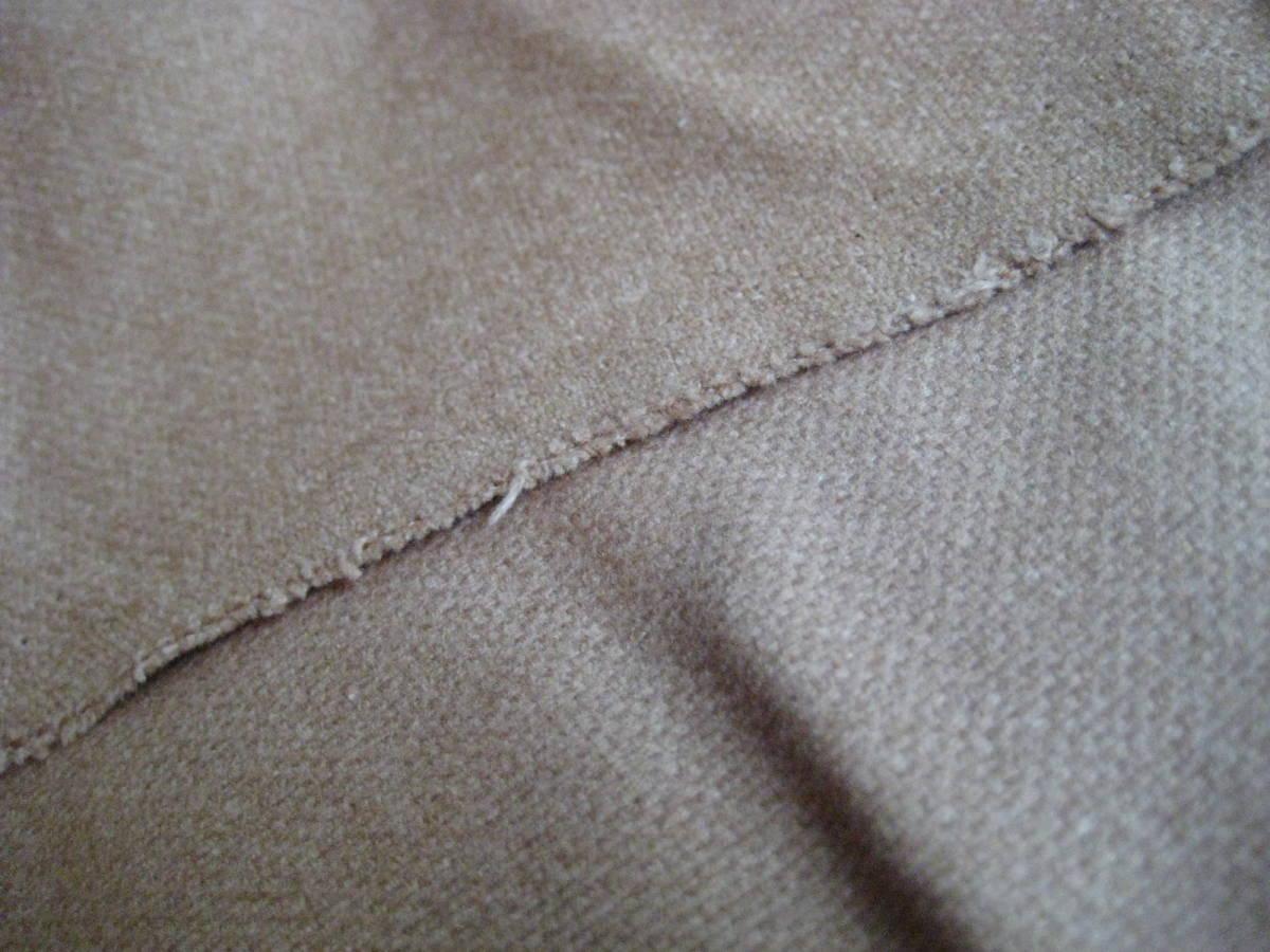 名品 アクアスキュータム ベージュのジャケットコート用生地 3.0m Aquascutum_生地裏表比較
