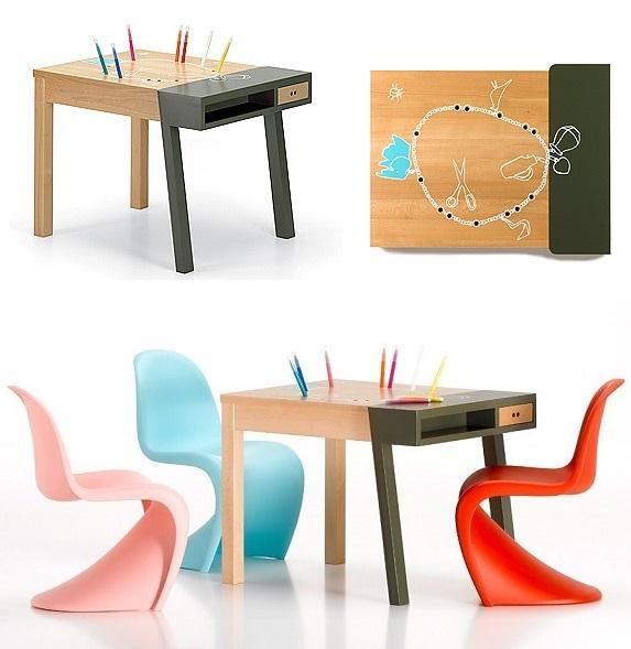 vitra ヴィトラ 【 Porcupine Desk ポーキュパイン デスク 】 Hella Jongerius ヘラ・ヨンゲリウス 2007年作 KIDS TABLE キッズテーブル