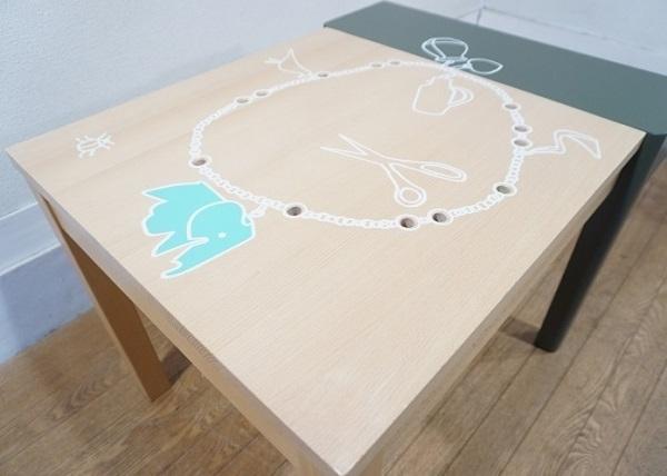 vitra ヴィトラ 【 Porcupine Desk ポーキュパイン デスク 】 Hella Jongerius ヘラ・ヨンゲリウス 2007年作 KIDS TABLE キッズテーブル_画像9
