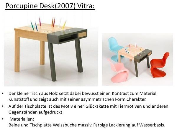 vitra ヴィトラ 【 Porcupine Desk ポーキュパイン デスク 】 Hella Jongerius ヘラ・ヨンゲリウス 2007年作 KIDS TABLE キッズテーブル_画像2