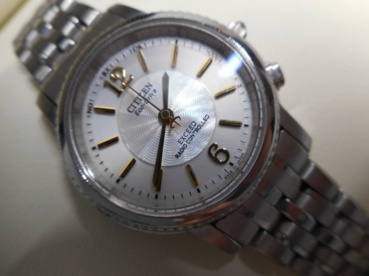 【外装綺麗目・現在動作未確認・現状渡し】CITIZEN 腕時計 EXCEED DURATEC エクシード Eco-Drive エコ・ドライブ 電波時計
