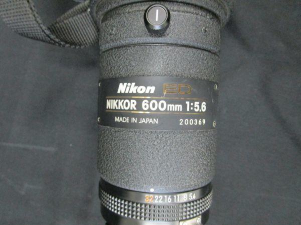 1746☆dt Nikon CT-603 FOR NIKKOR ED 600mm 1:5.6 望遠レンズ ケース付き_画像8