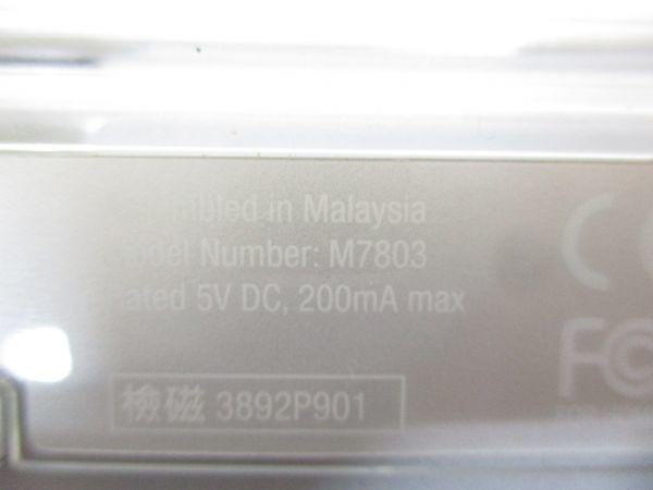 □アップル MAC Apple PRO キーボード M7803 マウス セット M5769 黒 B-2□_画像3