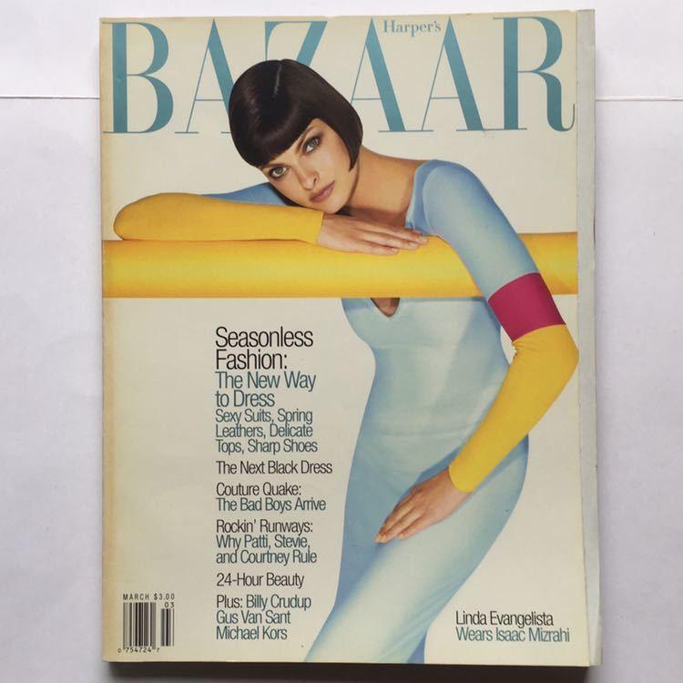 Harper's BAZAAR ハーパーズ バザー アメリカ USA 1997 MARCH Linda Evangelista_画像1
