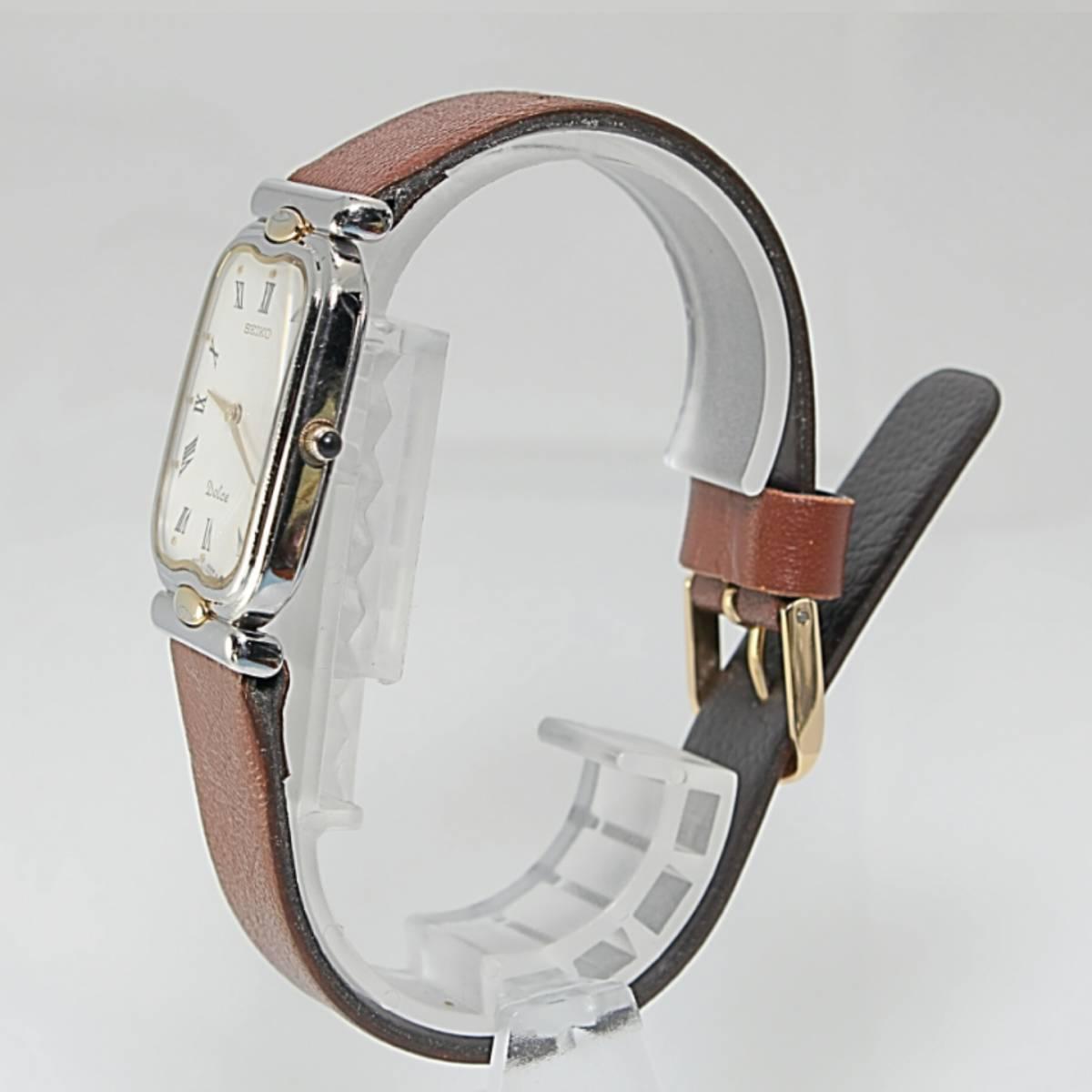 セイコー ドルチェ メンズ 電池ベルト交換済み稼働品 W-79_画像4