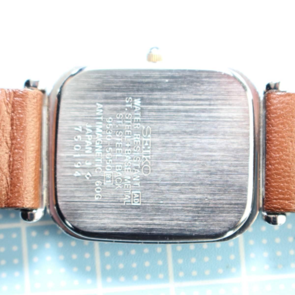 セイコー ドルチェ メンズ 電池ベルト交換済み稼働品 W-79_画像9